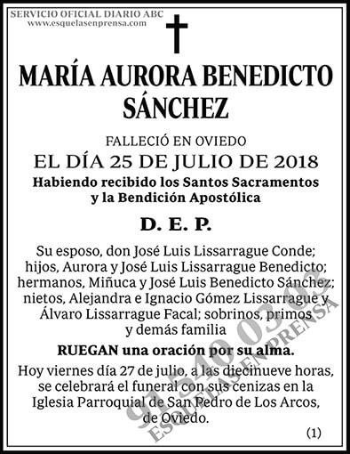 María Aurora Benedicto Sánchez